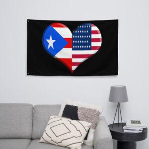 Puerto Rican American Flag Boricua Pride American Pride Wall Art