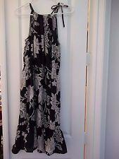 NWT Women's JOE FRESH JC Penney Sun Halter Dress, Black Floral, Size M, CUTE!