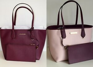 MICHAEL-KORS-Damen-Tasche-CANDY-LG-REVERSIBLE-TOTE-2-in-1-plum-blossom
