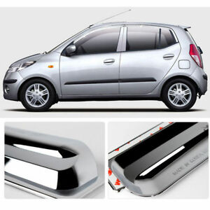 i10 Chrome Sun Shade Rain Guard Door Window Visor Exterior car trim ... 95d2f5ef419