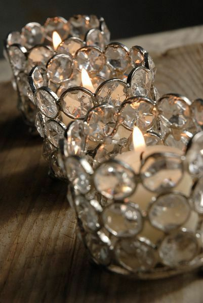 Votive Candle Holders wedding Event Crystal centerpieces Set of 12 Free Shipping