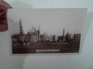CAIRO-Citadel-Mosques-No-12-Vintage-Real-Photo-Postcard-B2505