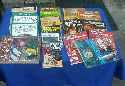 Woodworking Book Pamphlet Lot Of 18 Router Jig Table Scroll Band Saw More Ebay
