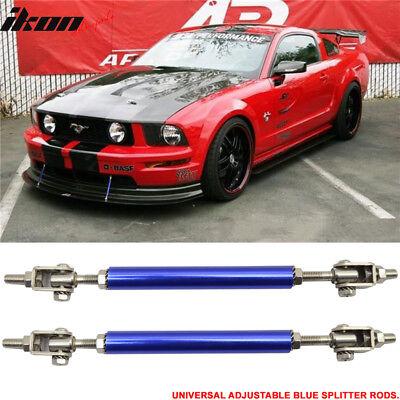Fits Universal Gunmetal Sanded Adjustable 5.5-8 Inch Bumper Lip Diffuser Rod