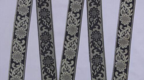 "1 Yd Jacquard Trim 1.50/"" wide Woven Border Sew Ribbon T735"
