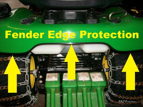 BLACK FENDER EDGE TRIM U channel PROTECTION KIT JOHN DEERE X300 fits