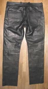 leicht-hueftige-034-HIGHWAY-1-034-LEDERJEANS-Biker-Lederhose-schwarz-ca-W33-034-L34-034