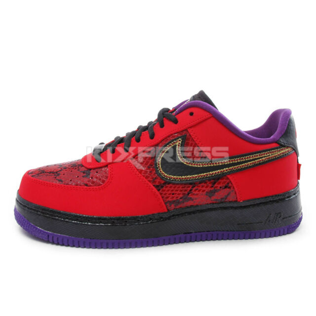 The Air Force 1 Low Black University Red {Forum Aden}