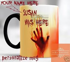 WALKING DEAD PERSONALIZED NAME MAGIC COLOR CHANGING COFFEE MUG TEA CUP CHRISTMAS