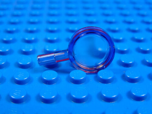 LEGO-CITY  MINIFIGURES  X 1 TRANSLUCENT PURPLE MINIFIG UTENSIL MAGNIFYING GLASS