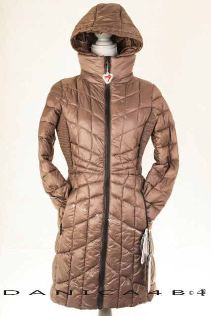 a2b5b3aa7993c Bernardo Packable Quilted Hooded Bib Coat Puffer Down Primaloft Fill S Mocha