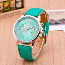 WHOLESALE 5pcs New Fashion Geneva Leather Strap Quartz Analog Wristwatches