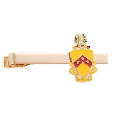 Brand New Phi Gamma Delta Fiji Gold Color Crest Tie Bar//Clip