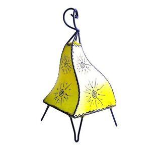 Orientalische Marokkanische Stehlampe Leder Lampe Hennalampe Lederleuchte Melah