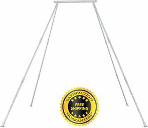Hanging-Yoga-Trapeze-Swing-Bar-Heavy-Bag-Hammock-Stand-Indoor-Outdoor-Exercise