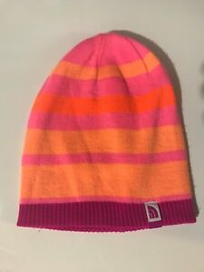 bd2f1e331ed Girls NORTH FACE A6X6  Pete N Repeat  REVERSIBLE Pink Stripe