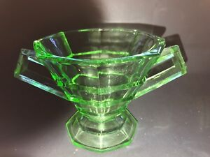 Vintage-Green-Tearoom-Depression-Glass-Round-Sugar-Bowl-AS-IS