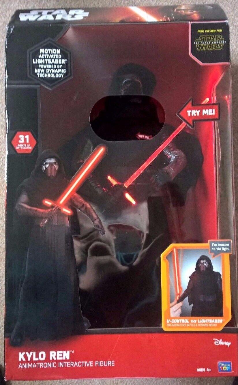 Star Wars KYLO REN ANIMATRONIC INTERACTIVE FIGURE 17 inch talking figure