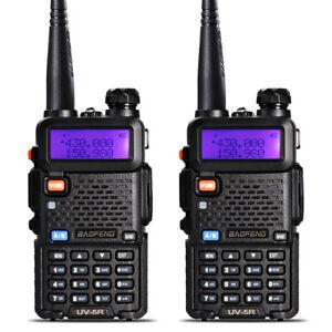 2PCS-Baofeng-UV-5R-Walkie-Talkie-Headset-VHF-UHF-Ham-Portable-2-Way-Radio-DCS