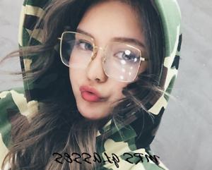 570f917727 Image is loading Oversize-Square-Glasses-frames-Retro-Large-eyeglasses-Women -