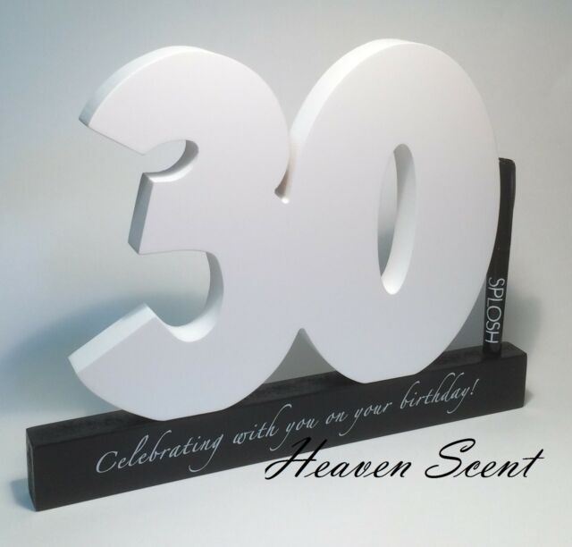 Happy 30th Birthday Gift Wooden Signature Number Great Gifts Ideas by Splosh