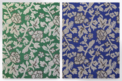 EM-884-Royal-M Floral Woven Metallic Brocade Dress Fabric