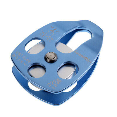 2x 32KN Double   Pulley for 15mm Rope Climbing Dragging CE Approved