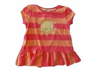 NWT-Girl-039-s-Gymboree-Hop-n-039-Roll-sunshine-striped-shirt-6-12-18-24-months-2T