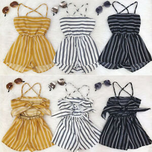 AU Fashion Toddler Baby Girl Off Shoulder Clothes Romper Bodysuit Sunsuit Outfit