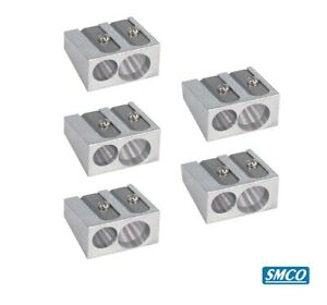 New Brand Y0S3 Metal Aluminium Single And Double Hole Pencil Sharpener