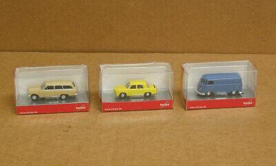 Herpa Ho 3 Vehicles 1 Vw Kasten 1 Renault Gordnini And 1 Opel Rekord Car 4013150090469 Ebay