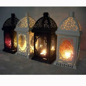 AgréAble Portacandele Shabby Lumini Candele Lanterna Lanterne Candelabro Bomboniere New Conduire Un Commerce Rugissant