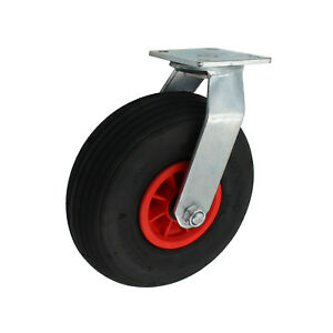 Set 200 mm Luftbereifte Räder Rollen Lenkrollen Bockrollen A1