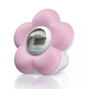 AVENT Baby Bath & Room Thermometer - Pink Accurate Temperature SCH550/21