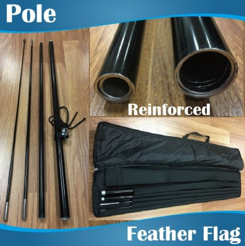 3m Outdoor SUSHI Flag Feather Banner Feather Flags with Base