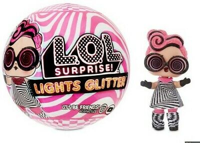 LOL Surprise Lights Glitter Series Ball Tots Doll Black Light Neon 2020