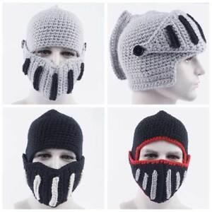 4bf7cd8ea53 Roman Unisex Men Wool Knit Hat Winter Warm Ski Beanie Knight Helmet ...