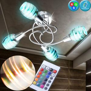 RGB-plafonnier-a-LED-dimmable-effet-3D-lampe-de-corridor-E14-RGB-REMOTE-CONTROL