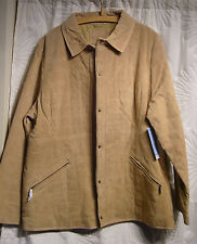 BNWT DENVER HAYES WOMENS GENUINE LEATHER (SUEDE) BEIGE STITCHED JACKET SIZE XXL