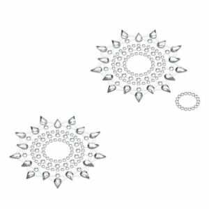 Petits Joujoux Gloria Silver Nipple And Belly Button Pasties Self Adhesive Sexy