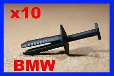 10 BMW wheel arch mudguard flap car plastic fasteners clip push type 35D