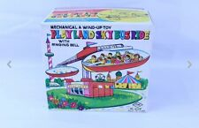 VTG YONE YONEZAWA TIN WIND UP SPACE PLAYLAND SKY BUS RIDE MIB OLD STORE STOCK