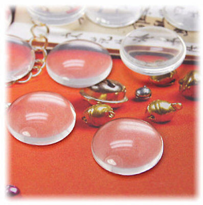 Round Glass Magnifying Cabochons 10 pairs 12mm  6mm Deep  ***Best Seller*** 20pc