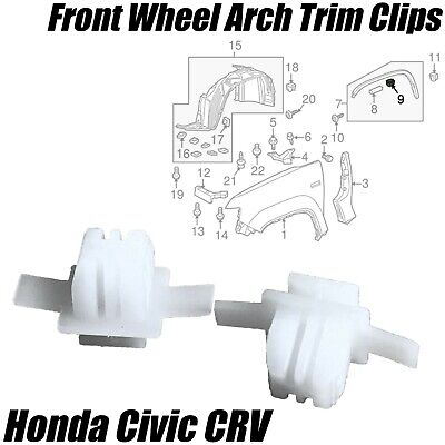 10x VAUXHALL Front Wheel Arch Trim Clips Wing Wheel Arch Surround Clips