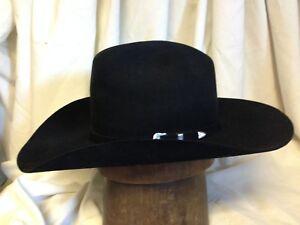 5997a19d59e6 Image is loading Stetson-6X-Beaver-Black-Silverton-Mens-Cattleman-Cowboy-