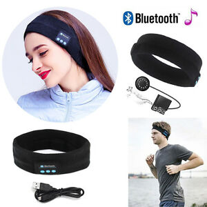 new wireless bluetooth stereo headphone headset sports sleep headband with mic ebay. Black Bedroom Furniture Sets. Home Design Ideas