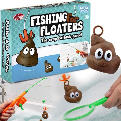 PESCA Floaters bagno giocattolo Poo GIOCO Rude Divertente Regalo Di Compleanno Party Borsa Filler