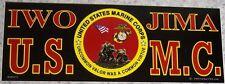 Bumper Window Sticker Marine Veteran Self Stick Vinyl 3¼x9 NEW Made in USA