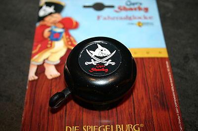 Kinderfahrrad Rad - Klingel Glocke - Capt'n Sharky - schwarz - Bike Fashion NEU