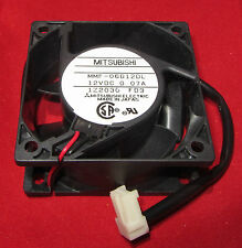 Mitsubishi Electric 12V DC Cooling Fan 60mm x 25mm, 70mA, 2600 RPM,  .07A 12VDC